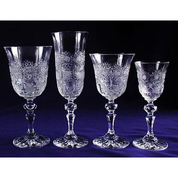 Cristal De Boh/ême Taill/é Coffret 6 Verres /à vin rouge en cristal collection Vivat