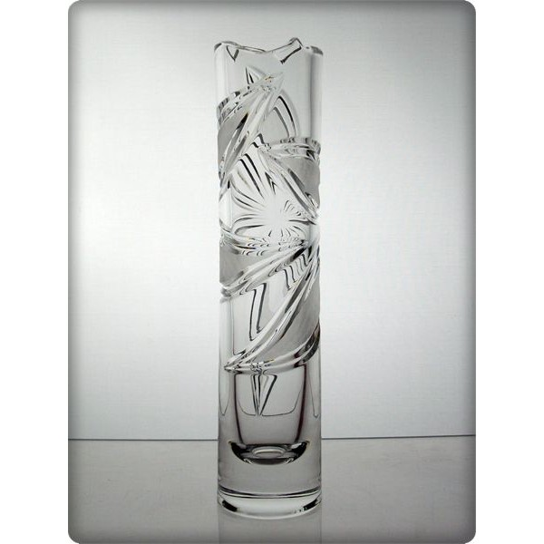 Vase en cristal 24cm d coration orchid e for Decoration en cristal