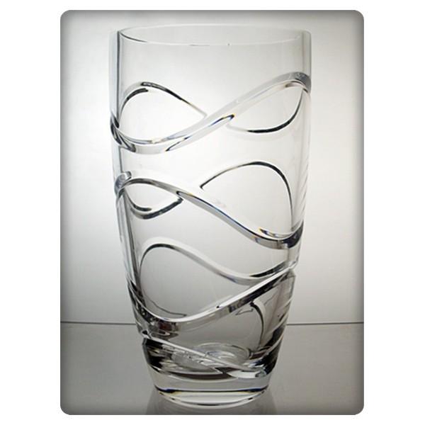 Vase en cristal 25cm d coration vague - La maison du cristal ...