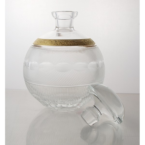La Maison Du Cristal Service Cognac De Luxe Or Moser