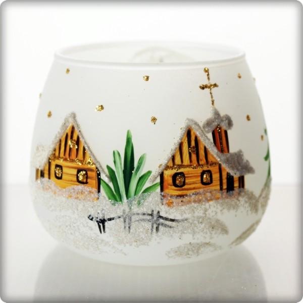 La maison du cristal bougeoir de no l blanc - La maison du cristal ...