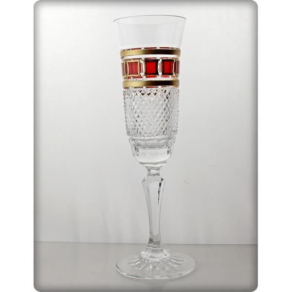 coffret de 6 verres champagne collection l 39 or rouge. Black Bedroom Furniture Sets. Home Design Ideas
