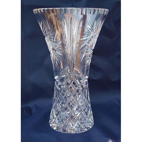 vase en cristal 25cm d coration moulin vent