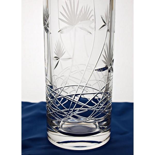 vase en cristal 41cm d coration fleur