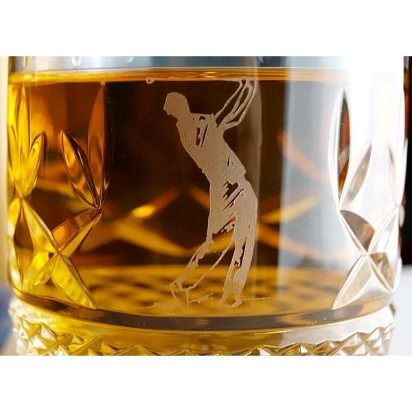 verres whisky avec un motif de golf coffret de deux. Black Bedroom Furniture Sets. Home Design Ideas