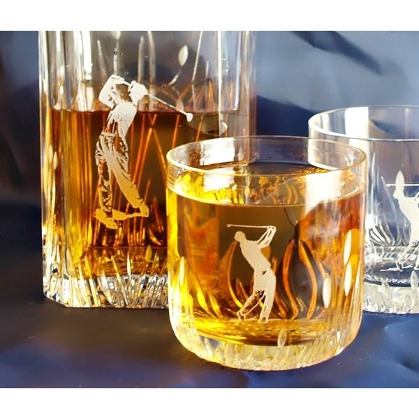 Carafe et 2 verres whisky avec un motif de golf - Carafe a whisky maison du monde ...