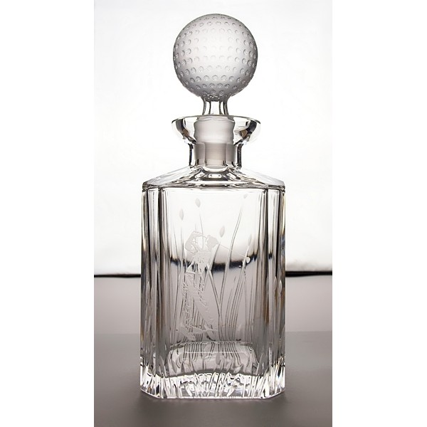carafe et 2 verres whisky avec un motif de golf. Black Bedroom Furniture Sets. Home Design Ideas