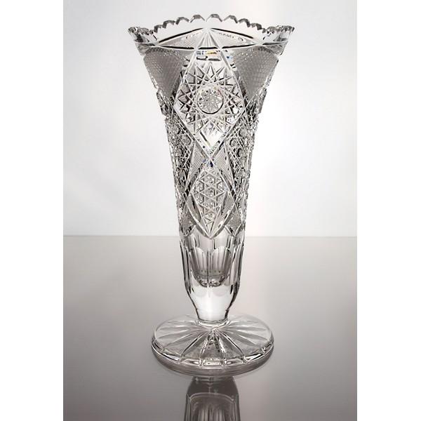 vase pied en cristal 25cm d coration fantasia
